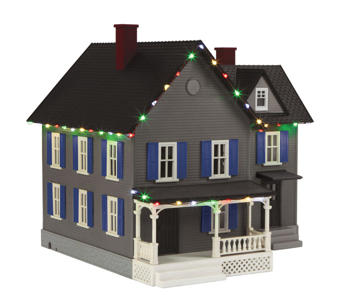 MTH 30-90521 - #6 Farm House w/ Operating Christmas Lights