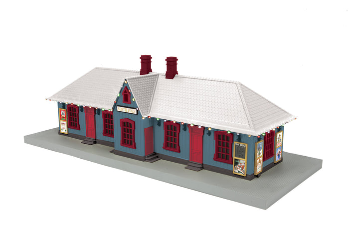 "MTH 30-90525 - Country Passenger Station ""North Pole"" w/ Operating Christmas Lights"