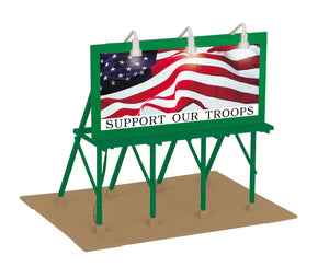 "MTH 30-90527 - Lighted Billboard ""Support Our Troops"""