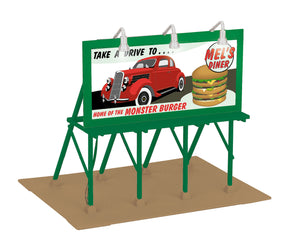 "MTH 30-90529 - Lighted Billboard ""Mel's Diner"""