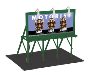 "MTH 30-90584 - Lighted Billboard ""Stop, Look, Listen"""