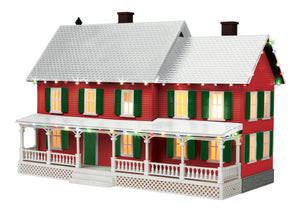MTH 30-90588 - #4 Country House w/ Operating Christmas Lights (Red)