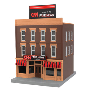 "MTH 30-90625 - 3-Story City Building 1 ""CNN Fake News Outlet"""