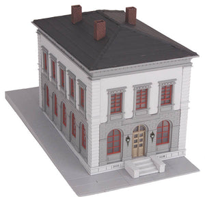 MTH 30-9099 - Police Station (Gray & Black)