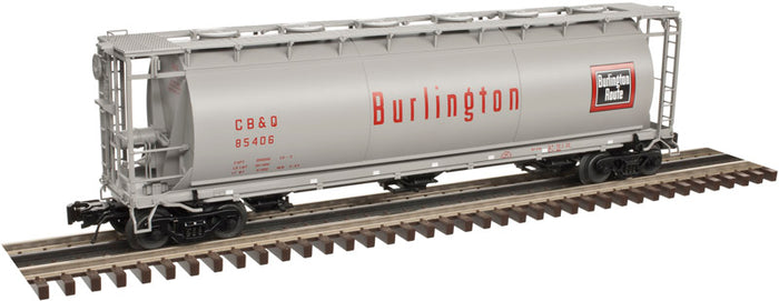 "Atlas O 3002218 - 3-Bay Cylindrical Hopper Car ""Burlington"" (2-Rail)"