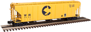 "Atlas O 3002359 - PS-4427 Low Side Hopper Car ""Chessie"" (2-Rail)"