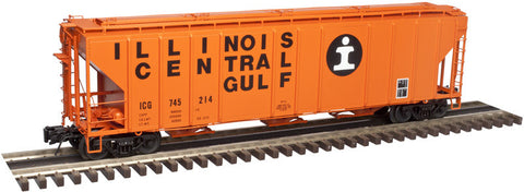 "Atlas O 3002361 - PS-4427 Covered Hopper ""Illinois Central"" 2 Rail"