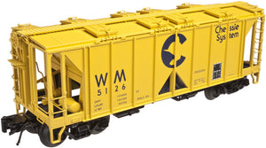 "Atlas O 3005108 - 70 Ton Covered Hopper ""Chessie System"" (WM)"
