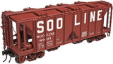 "Atlas O 3005111 - 70 Ton Covered Hopper ""SOO Line"""