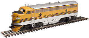 "Atlas O 30134037 - Master - F-7 Locomotive ""Rio Grande"" (Un-Powered) - A Unit"