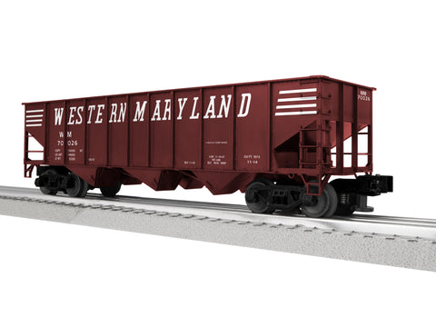 "Lionel 3-16130 - LionScale - 3-Bay 9-Panel Hopper ""Western Maryland"" (6-Car)"