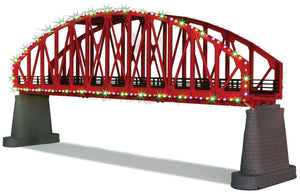MTH 40-1115 - Steel Arch Bridge w/ Operating Christmas Lights (Red)