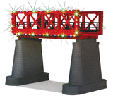 MTH 40-1116 - Bridge Girder w/ Operating Christmas Lights (Red)