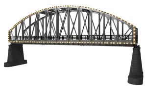 MTH 40-1117 - Steel Arch Bridge w/ Operating White Lights (Silver)