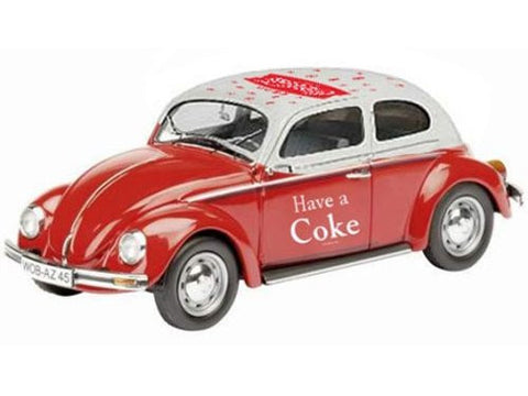 Atlas O 4001041 - 1966 VW Beetle Coca Cola (Red) 1/43 by Motorcity Classics