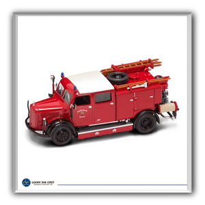 Lucky Die Cast 43013 - 1950 Mercedes Benz TLF-50 Fire Engine (Red) 1/43 Diecast Car