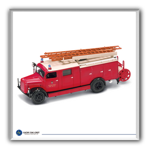 Lucky Die Cast 43014 - 1941 Magirus-Deutz S 3000 SLG Fire Engine (Red) 1/43 Diecast Car