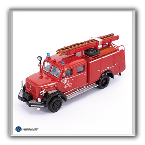 Lucky Die Cast 43015 - 1964 Magirus-Deutz 150 D 10 F TLF16 Fire Engine (Red) 1/43 Diecast Car