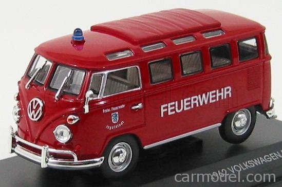 Lucky Die Cast 43211 - 1962 Volkswagen Microbus Police (Red) 1/43 Diecast Car