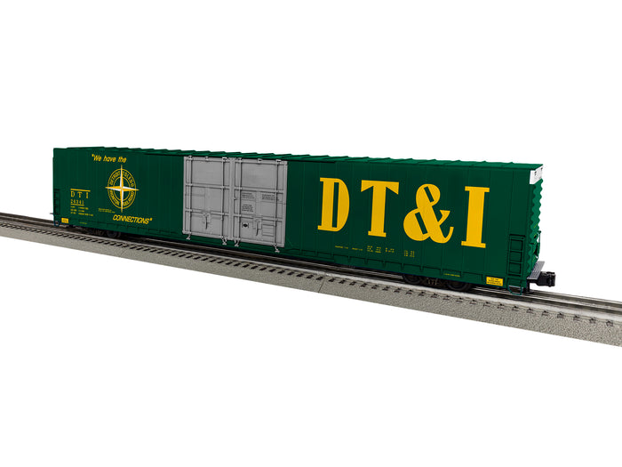 "Lionel 1926021 - 86' 4 Door High Cube Boxcar ""DT&I"" #26341 (green)"