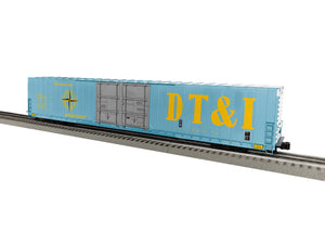 "Lionel 1926023 - 86' 4 Door High Cube Boxcar ""Detroit Toledo & Ironton"" #26443(blue)"