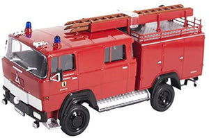 Lucky Die Cast 43017 - 1965 Magirus-Deutz 100 D 7 FA LF8-TS Fire Engine (Red) 1/43 Diecast Car
