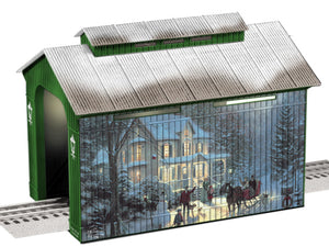 "Lionel 6-81290 - Holiday Covered Bridge ""Thomas Kinkade"""