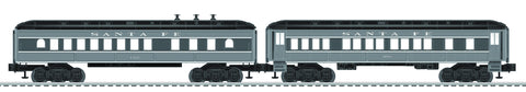 Lionel 6-81778 Lionel Baby Madison Pass Cars Coach/Diner - 2 Pack - Santa Fe
