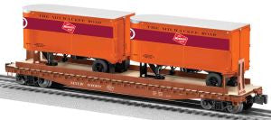 "Lionel 6-81897 - PS-4 Flatcar ""Milwaukee Road"" w/ Piggybacks"