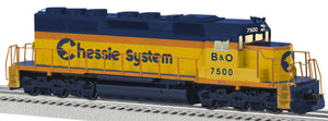 "Lionel 6-82275 - Legacy SD40 Diesel Locomotive ""Chessie System/Baltimore & Ohio"" #7593"