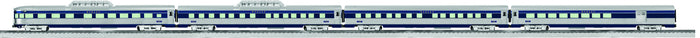 "Lionel 6-82550 - Bluebird - 21"" Streamlined Passenger Cars ""Wabash"" (4-Car)"