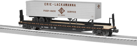 "Lionel  6-82841 - PS-4 Flatcar """"Erie Lackawanna"" w/ 40' Trailer"