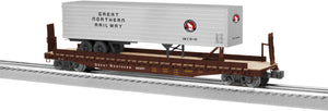 "Lionel 6-82842 - PS-4 Flatcar ""Great Northern"" w/ 40' Trailer"