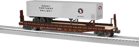 Lionel  6-82842 PS-4 Flatcar with 40' Trailer - Great Northern