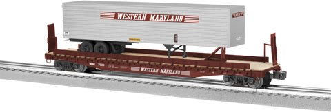 Lionel  6-82843 PS-4 Flatcar with 40' Trailer - Western Maryland