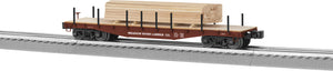 "Lionel 6-82852 - 40' Flat Car ""Meadow River Lumber"" w/ Lumber Load"