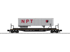 "Lionel 6-84870 - PS-4 50' Flat Car ""Northern Pacific"" w/ 40' Trailer #65110"