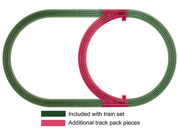 Lionel 6-12028 - FasTrack - Inner Passing Loop Add-on Track Pack