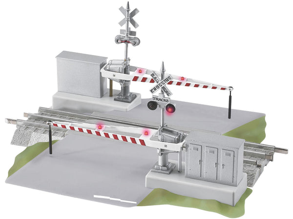 Lionel 6 12062 Fastrack Grade Crossing W Gates And