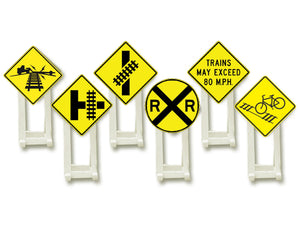 Lionel 6-37120 - Railroad Crossing Signs (6-Pack)