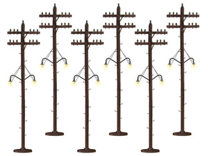 Lionel 6-37995 - Telephone Poles (Lighted)
