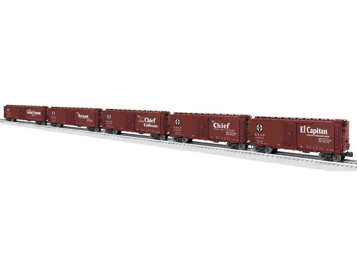 "Lionel 6-81605 - PS-1 Boxcars ""AT&SF Map & Slogan"" (5-Car)"