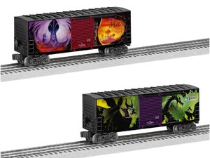 Lionel 6-82718 - Disney Villains Hi-Cube Boxcar (2-Car)