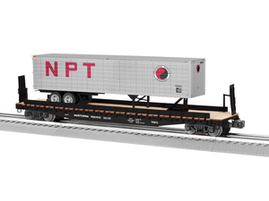 "Lionel 6-84871 - PS-4 50' Flat Car ""Northern Pacific"" w/ 40' Trailer #65126"