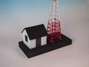 Korber Models #703 - O Scale - Radio Station & Tower w/ Flashing LED Kit