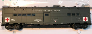 "Atlas O 3007706 - Troop Hospital Car ""U.S. Army"" - Holiday 2019"