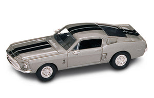 1968 Shelby GT 500-KR (Silver) 1/43 Diecast Car by Road Signature