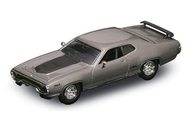 Lucky Die Cast 94218 - 1971 Plymouth GTX (Silver) 1/43 Diecast Car