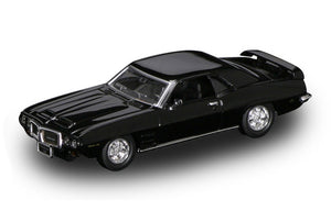 1969 Pontiac Firebird Trans AM (Black) 1/43 Diecast Car by Road Signature