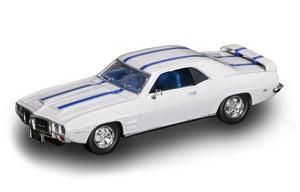 1969 Pontiac Firebird Trans AM (White/Blue) 1/43 Diecast Car by Road Signature